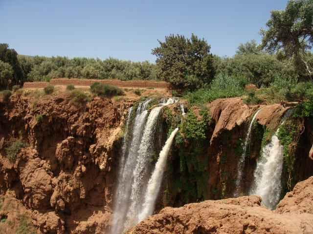 Les cascades d'Ouzoud et le pont naturel Imi n'Ifri