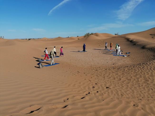 Stage Yoga méditation & randonnée L'appel du désert
