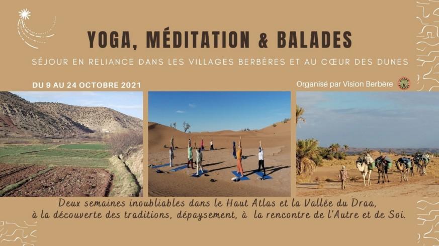 Yoga Méditation &  Balades  Séjour en Reliance dans les Villages Berbères et au Cœur des Dunes